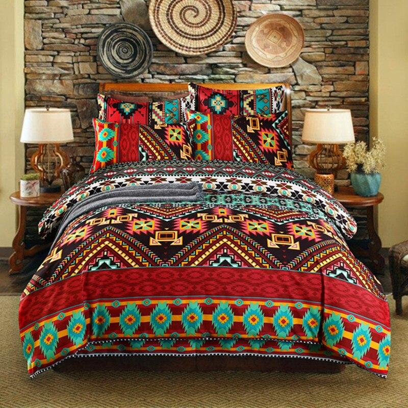 Bohemian 3d Comforter Bedding Set Queen Size Duvet Cover Bed Sheet Pillowcase Bed Linen Full Size Bed Set