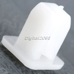 Image 4 - 50Pcs White Square Auto Fasteners Auto Bumper Fastener Rivet Retainer Clips Push Engine Cover Fender Car Door Trim Panel Clip