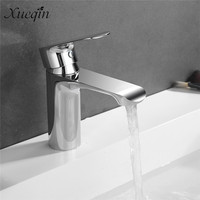 1 Set Mrosaa Basin Mixer Faucet Chrome Sink Tap Bathroom Faucet Deck Mounted Vanity Hot Cold