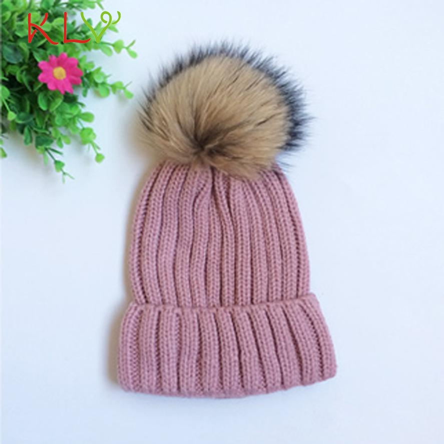 Skullies & Beanies Women Fashion Warm Winter Detachable Hairball Hats Knitted Wool Hemming Hat Cap   Levert 2017 302 Hot 2017 skullies