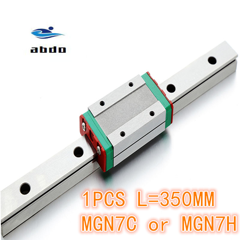 High quality 1pcs 7mm Linear Guide MGN7 L= 350mm linear rail way + MGN7C or MGN7H Long linear carriage for CNC XYZ AxisHigh quality 1pcs 7mm Linear Guide MGN7 L= 350mm linear rail way + MGN7C or MGN7H Long linear carriage for CNC XYZ Axis