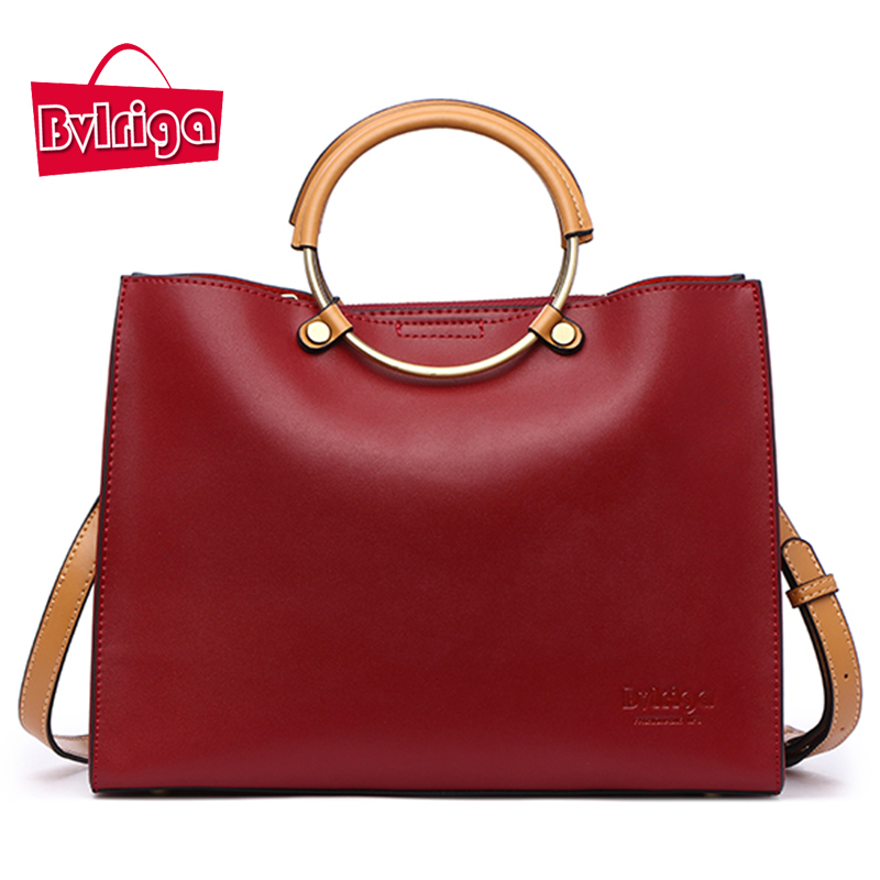 BVLRIGA Ladies' Genuine Leather Handbag Shoulder Bag Luxury Handbags Women Bags Designer Bags Handbags Women Famous Brands