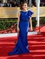Vestidos De Festa 2016 New Arrival Celebrity dress fashion scoop women evening dresses 2016 Royal Blue Celebrity Dresses