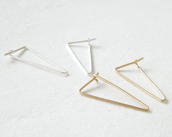 PINJEAS fashion Tiny Earrings Ear Climber 1 pair Wraps Bar tapered Minimalist Everyday creative Mothers Day gift
