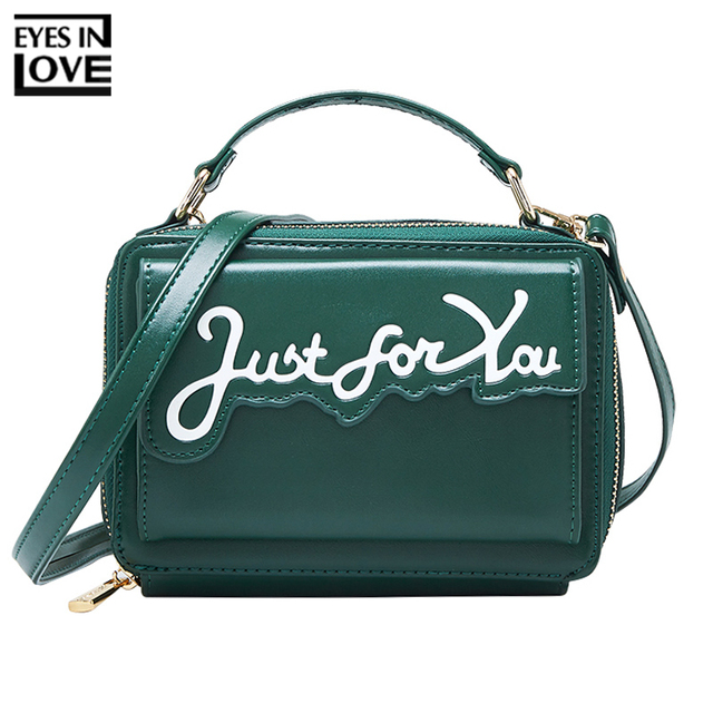 41e5c714816 US $13.97 43% OFF|Brand Letter 2019 New Messenger Bag Women Artificial  Leather Small Shoulder Crossbody Bags Female Purse Ladies Mini Tote Bag-in  ...