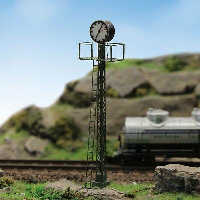 LQS61N 1pc  Model Railway lights Lit Platform Clock on Lattice mast N Scale NEW 5