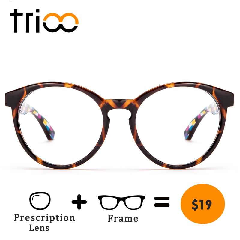 42418498026 TRIOO Optical Eye Glasses Women Prescription Computer Eyeglasses Retro  Round Frames Clear Myopia Glasses Female Graduate Eyewear-in Prescription  Glasses ...