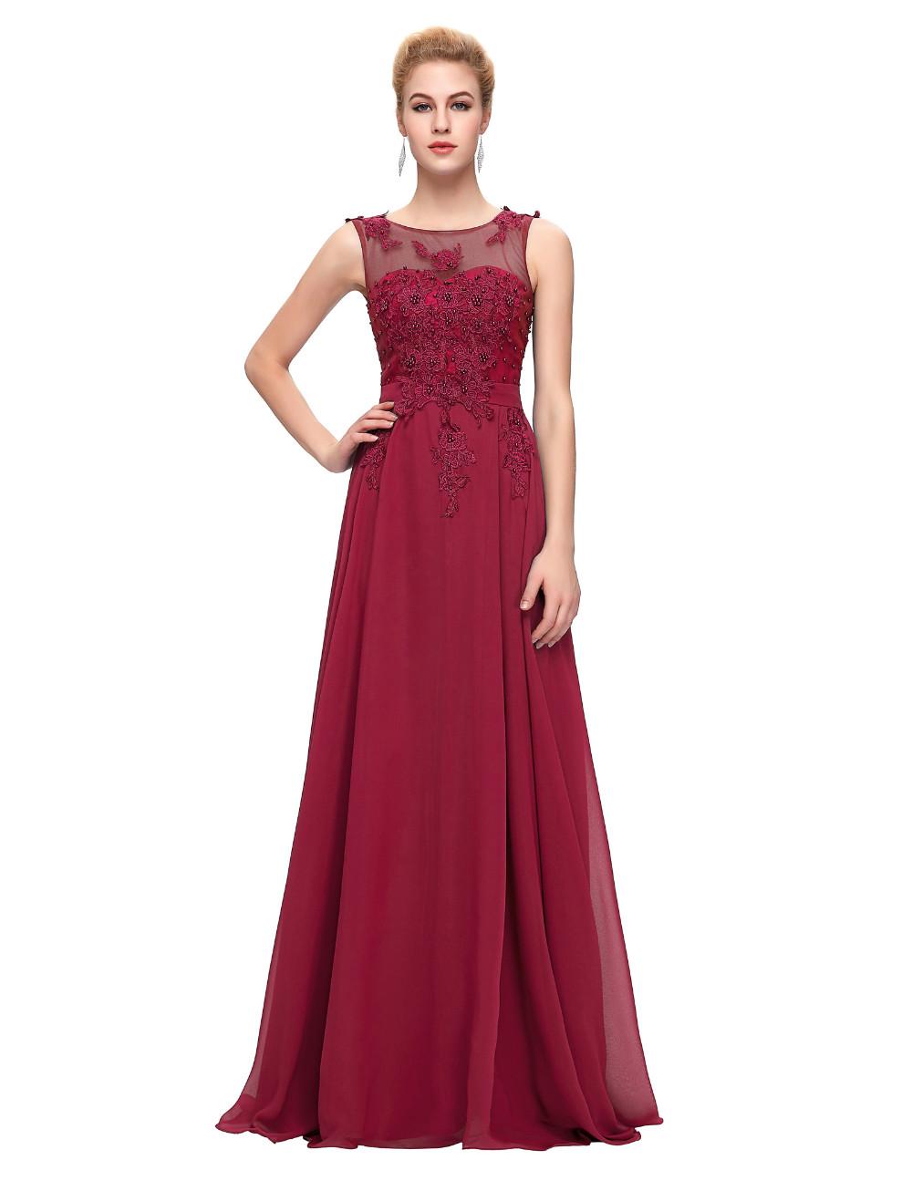 Grace Karin Elegant Long Evening Dresses 2016 Chiffon Pink Purple Red Royal Blue Black Formal Evening Dress Gown Abendkleider 53