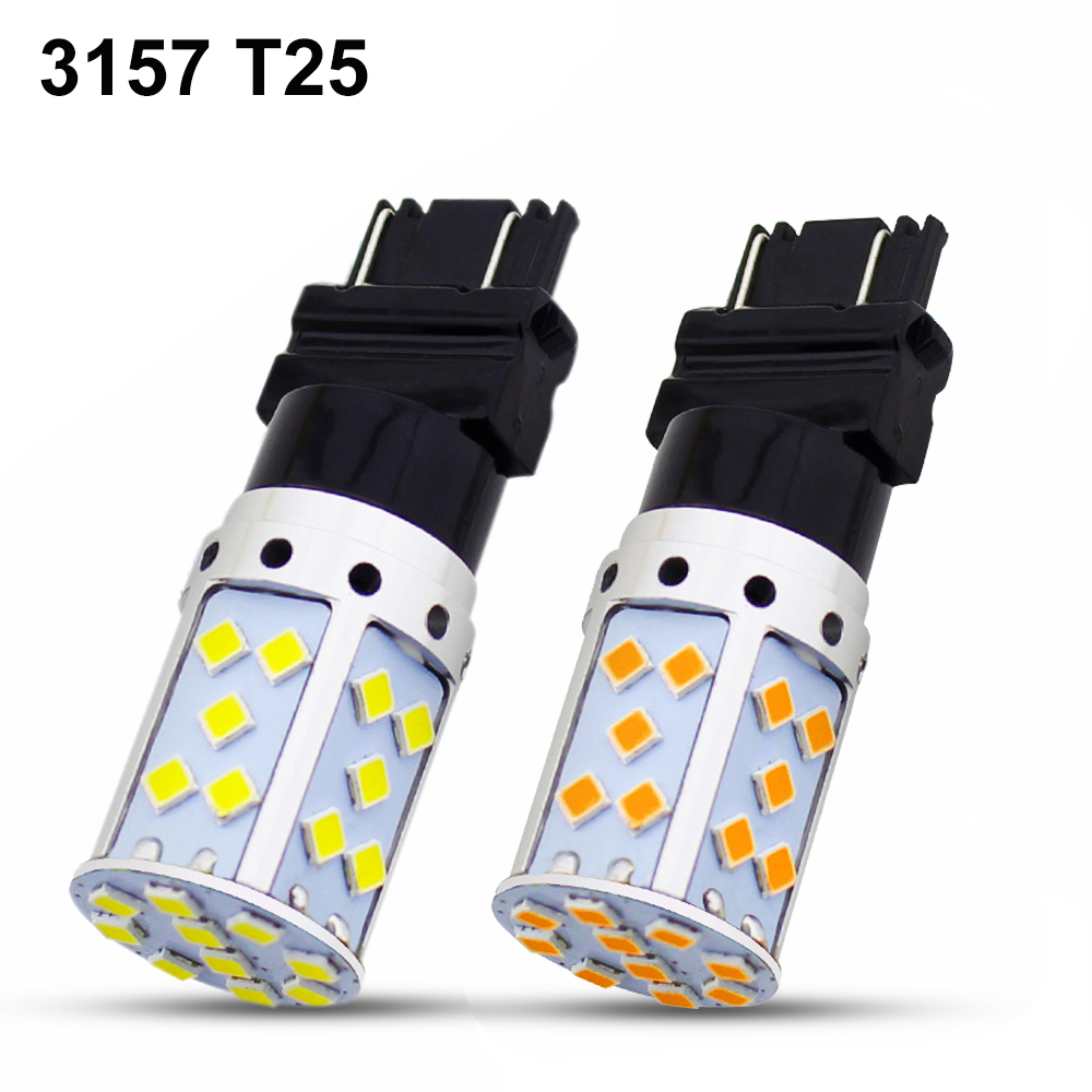 Automobiles & Motorcycles 1pc T25 3157 Led 35 Chips 3030 Smd Led Bulbs White Amber Yellow For Auto Turn Signal Lamp Car Reverse Reversing Backup Lights To Be Distributed All Over The World