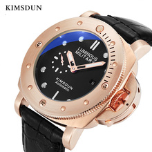 KIMSDUN Mechanical Watch Men automatic self-wind rose gold watches  luxury 3Bar Water Resistant Buckle reojes de hombre new 2019 high quality couple watches jsdun luxury mechanical watch male stainless steel water resistant lover s automatic watch rose gold