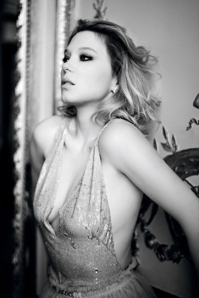 1137B Lea Seydoux Sexy Actor Star-Wall Sticker Silk Poster Light Canvas Decoration image