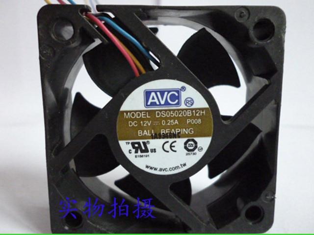AVC 5cm DS05020B12H 5020 12v 0.25a Cooling Fan avc link avc 3029g