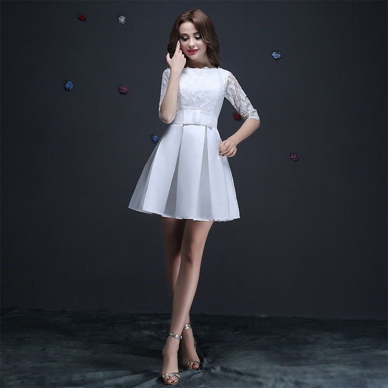 Aliexpress.com : Buy Vestido De Festa SSYFashion Lace Half Sleeved ...