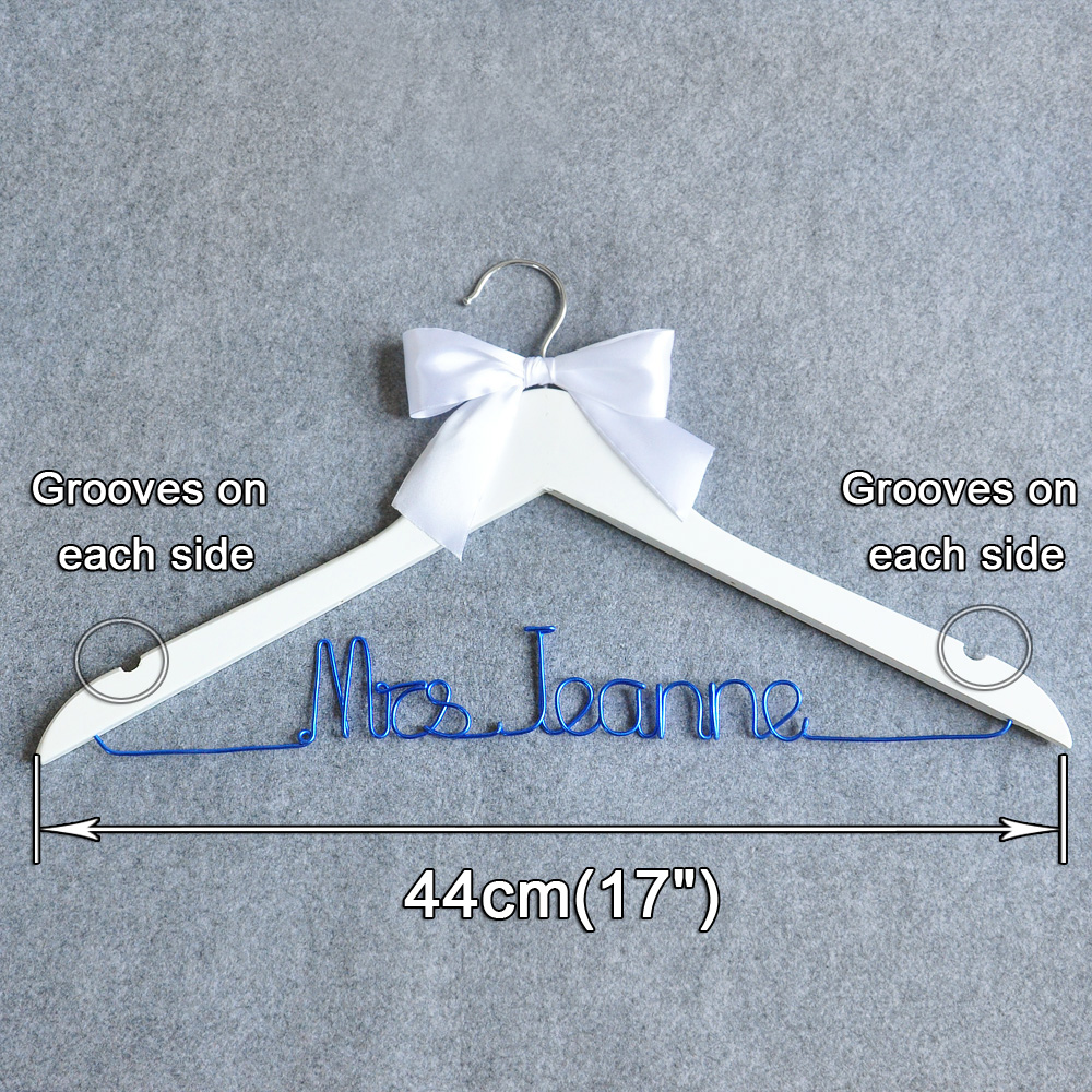 Free shipping Personalized wedding hanger, Color Wire Name Bridal ...