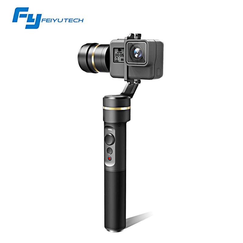 Prix pour FeiyuTech fy G5 3-axis De Poche Cardan Éclaboussures Pour GoPro HERO5 5 4 xiaomi yi 4 k sj aee cames d'action officiel magasin