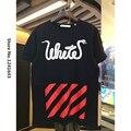 Moda hip hop brand clothing off white virgil abloh blanquecino impresión de empalme camiseta de algodón de manga corta hombres serpientes camisas