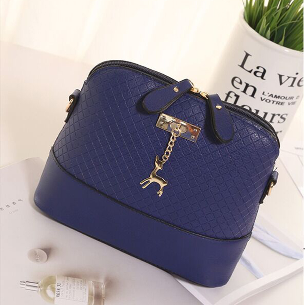Emarald Women Messenger Bags Fashion Mini Bag With Deer Toy Shell Shape Bag high quality leather Women Shoulder Bags handbag fashion women mini messenger bag pu leather shell shape bag crossbody shoulder bags with deer toy popular