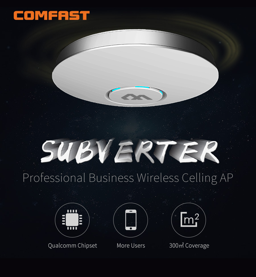 Buyer Set 400 800 Sqm Wifi Coverage Comfast Wireless Ceiling Ap