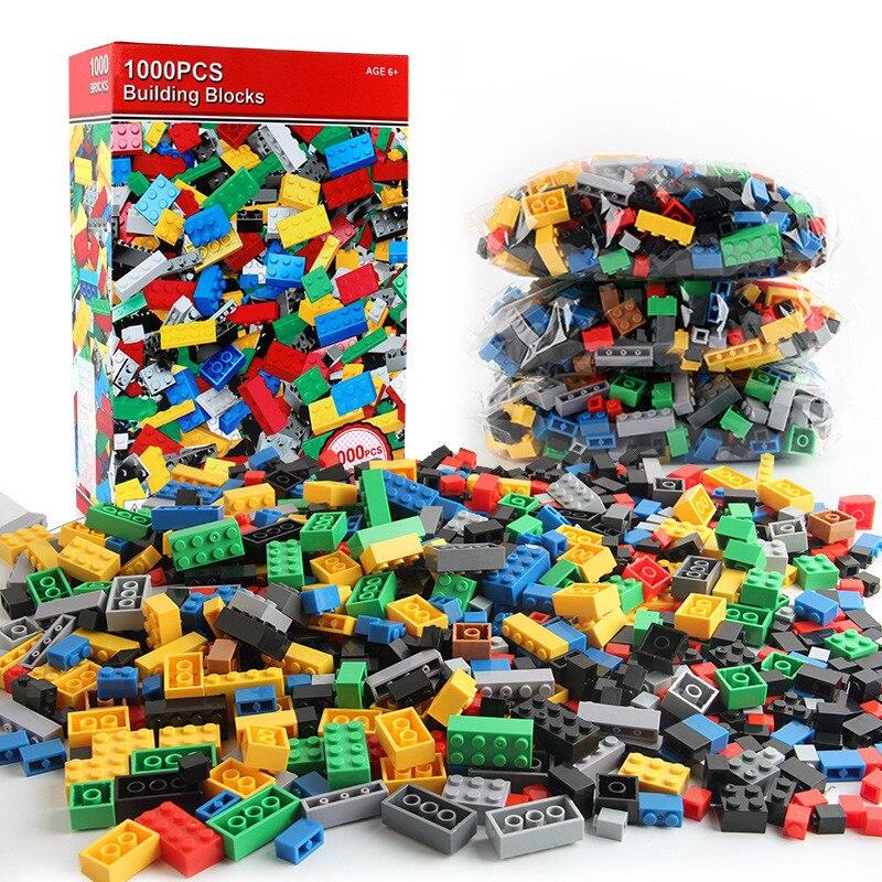 1000Pcs Conjuntos de Blocos de Construção Da Cidade Tijolos Criativo DIY Criador LegoINGLs Clássico Peças de Brinquedos Brinquedos Educativos para Crianças