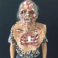 1 Pc Latex Halloween Party Zombie Mask Decoration Scary Haunted Sick Horror Ghost Head Prop Accessory