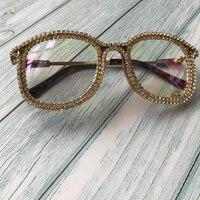af11594fc ZAOLIHU Round Overized Sunglasses For Women Gold Rhinestone Designer Shades  Sun Glasses Men Vintage Metal Clear