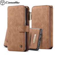 CaseMe Case For Samsung Galaxy Note 8 N950F Note8 Retro Leather Cases Zipper Wallet Card Multifunction