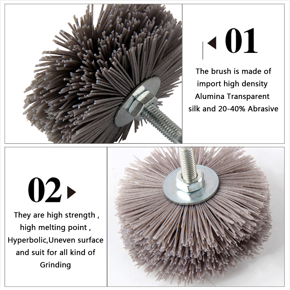 Abrasive Wire Grinding Flower Head Nylon Wheel Brush Woodwork ...