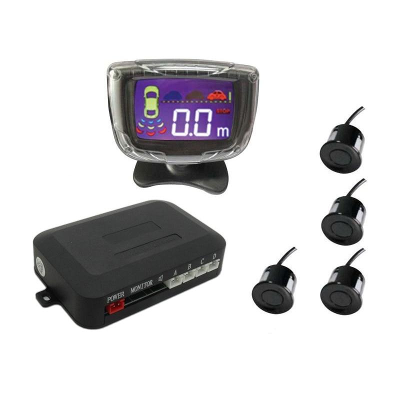 LCD Wireless parkplatz sensor Auto Einparkhilfe 4 Sensoren zeigen Drei Richtung der Abstand 6 farben haben lager PZ312-W