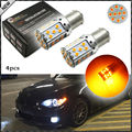 4pcs No Resistor Amber Yellow 3535 LED BAU15S 7507 PY21W 1156PY LED Bulbs For Front or Rear Turn Signal Lights (No Hyper Flash)