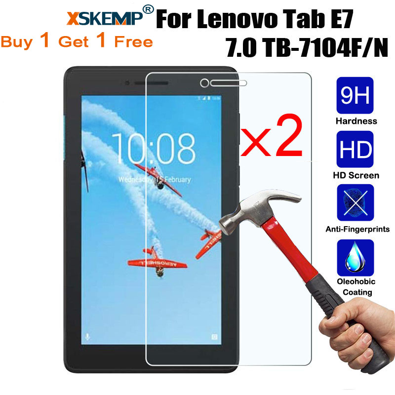 XSKEMP 2Pcs Thin Tempered Glass For Lenovo Tab E7 7.0 TB-7104F/N Screen Protector For Tab E8 / Tab 8 TB-8304F TB-8304F1 8.0 Film