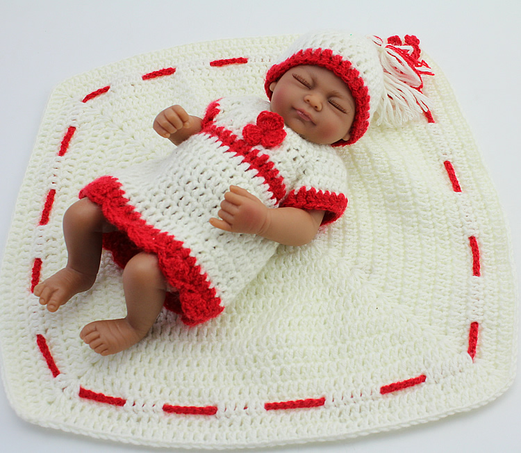 African American Reborn Baby Girl Doll Full Vinyl Bebe Toys Preemie Gift Personalized Lifelike Black Baby Shower Sleeping Doll