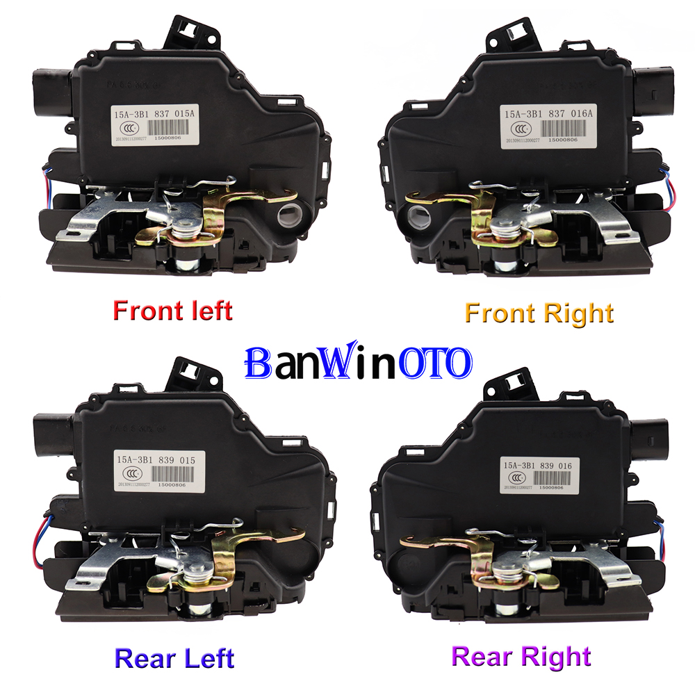 Front Latch Assembly Module # 3B1837016CF Genuine Passenger Side OE Volkswagen Door Lock