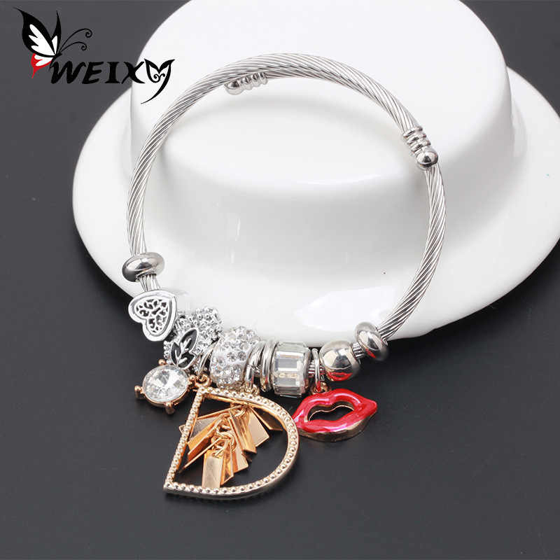 Bracelet Charms Braceket Women Female Jewelry Gift To Girlfriend Stainless Steel Bracelet