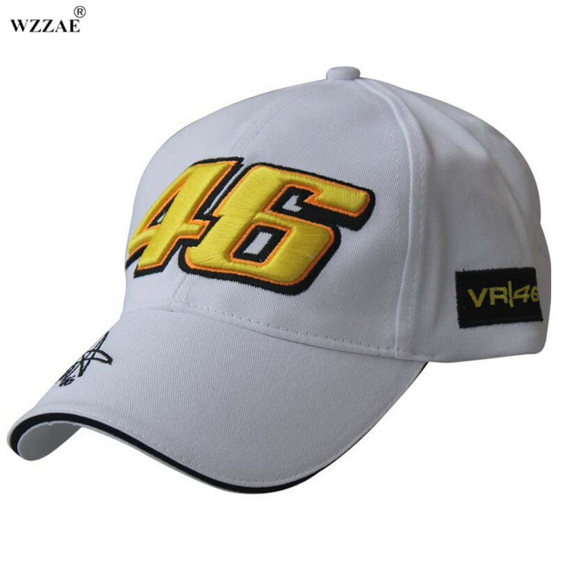 WZZAE 2017 New Design F1 Racing Cap hat Car Motocycle Racing MOTO GP VR 46 Rossi Embroidery Hip hop Caps Cotton Baseball Cap 100% cotton racing car sline baseball cap rs speedway hat racing moto gp speed car caps men and women snapback fans s line hats