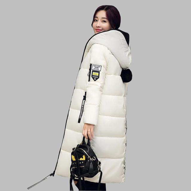Chaqueta de invierno Mujeres 2016 de La Moda de Algodón acolchado Con Capucha chaqueta Wadded Parkas Femeninos Damas Chaquetas Y Abrigos Más El Tamaño kp1333