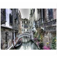 Living Room Decoration,Landscape Wall Photos For Room,Venice,Diy Oil Painting By Numbers