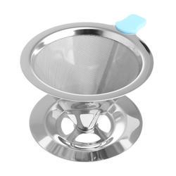 Отличное качество портативный металлический фильтр для кофе из нержавеющей стали Воронка/v-тип фильтры для чашки принадлежность для чая