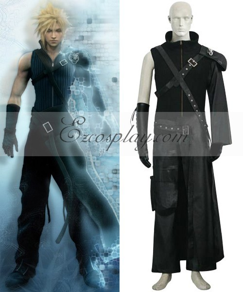 Japanese Anime Outfit Final Fantasy VII 7 Cloud Deluxe Cosplay Costume E001