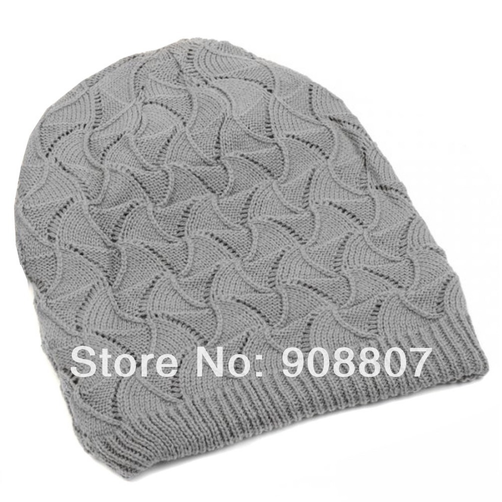 026436c68fa Etang Free Shipping Men Women Unisex Wave Stripes Pattern Slouchy Knit  Beret Beanie Crochet Rib Hat Cap-in Skullies   Beanies from Apparel  Accessories on ...