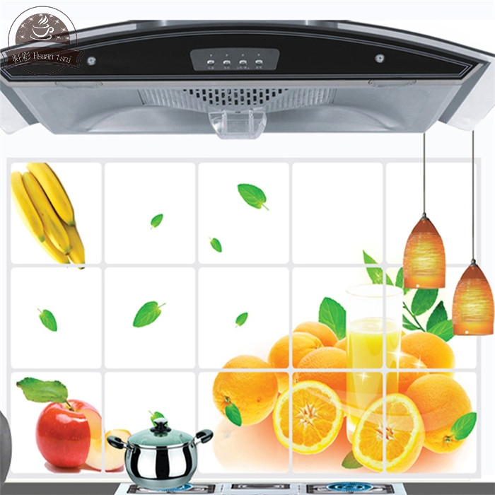 Fruit Orange Kitchen Vinyl Wall Stickers Home Decor Bathroom Waterproof  Sticker Wall Decals Home Decoration FOR