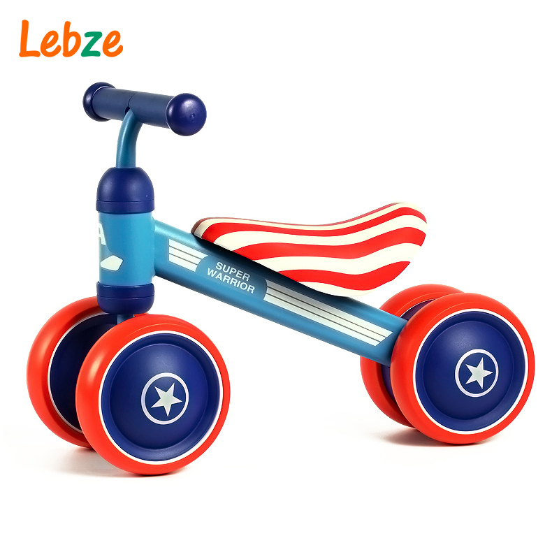 Children's Bicycle Kids Balance Bike Ride On Toys For Kids Four Wheels Child Bicycle Carbon Steel Bike For Children 1-2 Years child drift trike 4 wheels walker kids ride on toys for 1 3 years tricycle outdoor driver