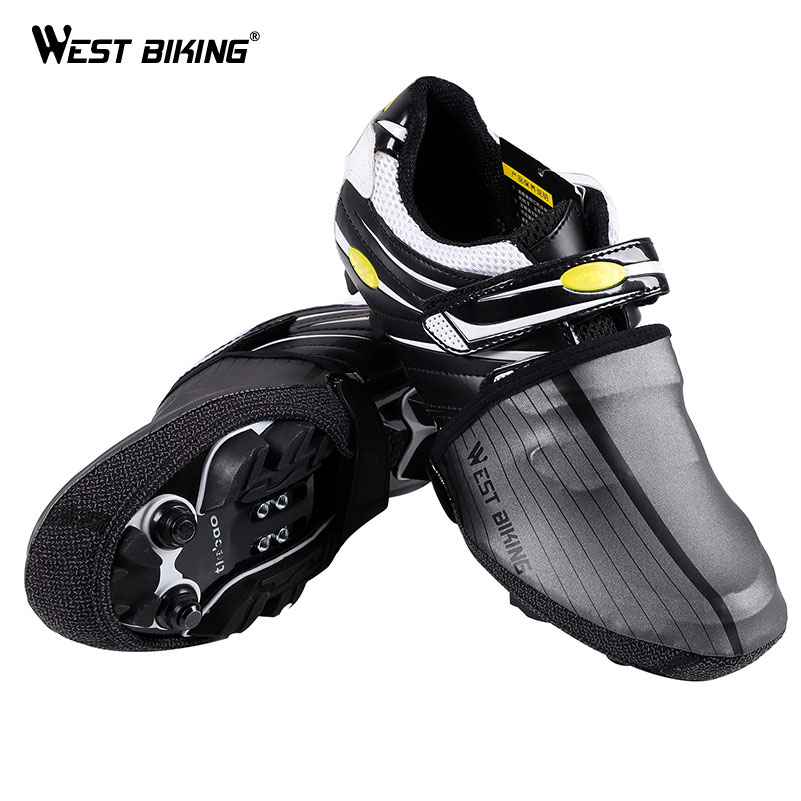 WEST BIKING Waterproof Half Foot Bike Shoe Cover Elastic Full Reflective Cycling Equipment Sports Bicycle Overshoes Shoe Cover