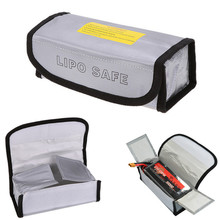 LiPo Li-Po Battery Fireproof Safety Guard Safe Bag High Quality Waterproof 18.5 * 7.5 6cm Silver