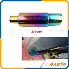 RASTP-de Alta Potencia Universal de 304 tubo de Escape Silenciador Sugerencia Acero Inoxidable tubo de Escape de Carreras LS-CR1002