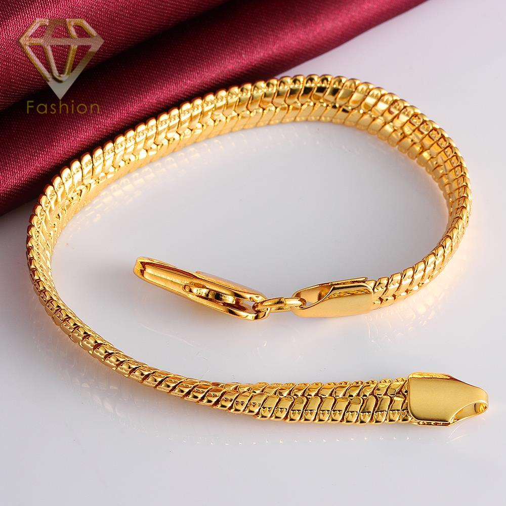 Plated Gold Bracelet New Arrival Heavy Magnetic Fake Snake Oblate