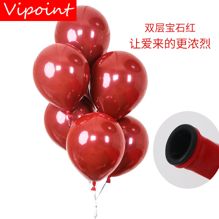 VIPOINT PARTY 50pcs 12inch red latex balloons wedding event christmas halloween festival birthday party HY 356 in Ballons Accessories from Home Garden