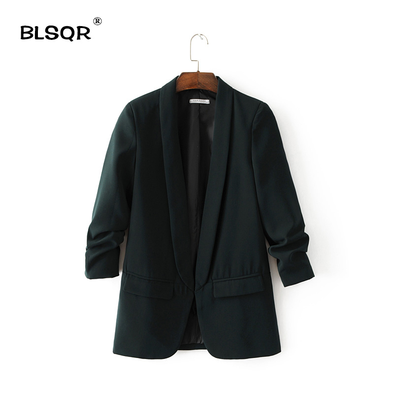 BLSQR Chiffon Formal Blazer Women s Suit font b Slim b font Long Sleeve Jacket Suits