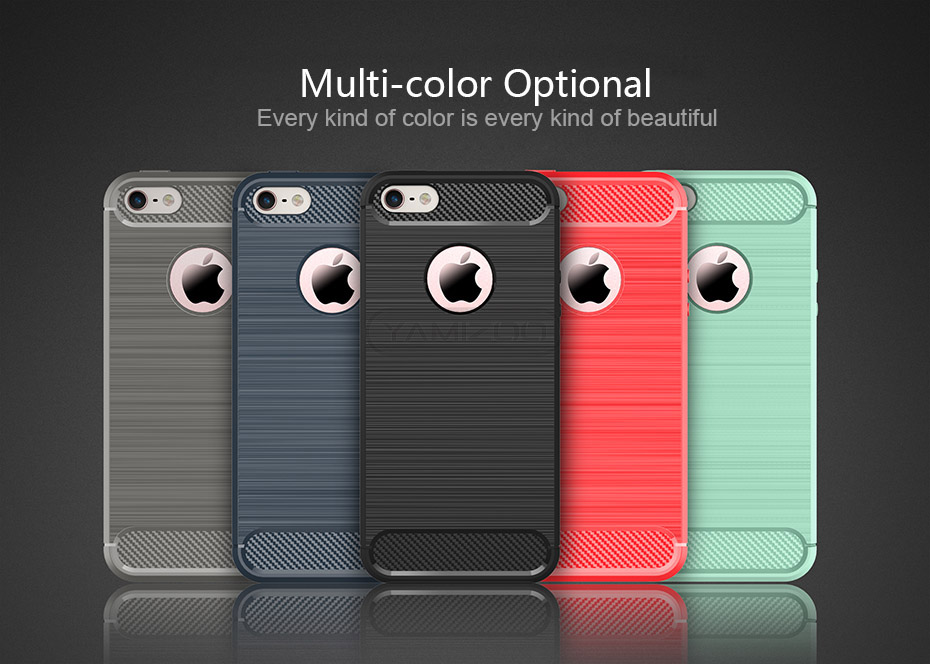 YAMIZOO Back Cover For iPhone se 5 5s Case Silicone Soft Thin Coque Red Black Phone Cases For iPhone 5s se 5 Carbon Case Luxury (17)