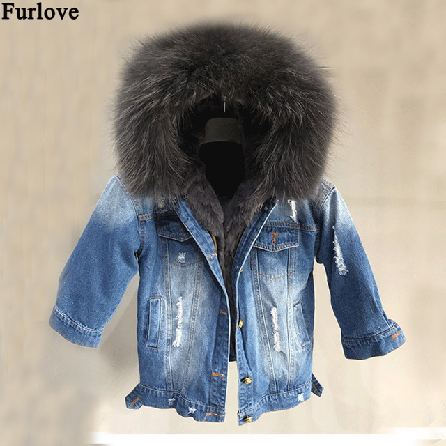 9fd692cb99f8 Winter children fur parka raccoon fur collar kids rex rabbit fur ...