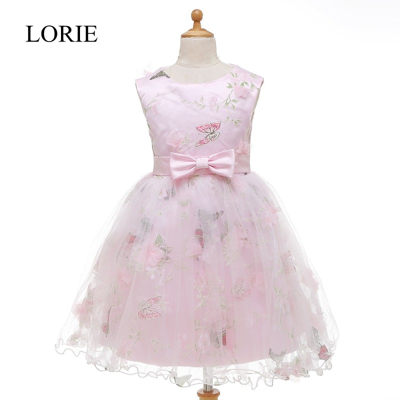 Butterfly Pink   Flower     Girl     Dresses   For Weddings Vestidos Primera Comunion 2016 Pageant   Dresses   For Little   Girls